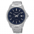 Seiko SUR153P1 100m Stainless Steel Blue Dial Date Casual Dress Watch